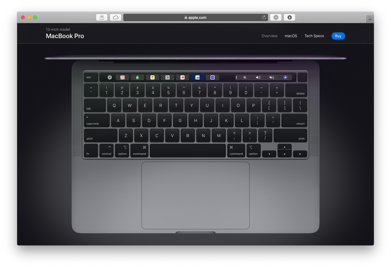 new MacBook Pro keyboard 2020