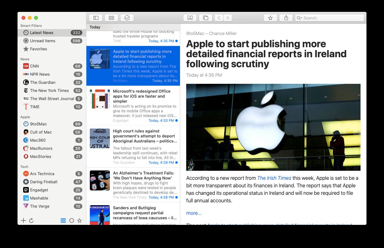 News Explorer reading app