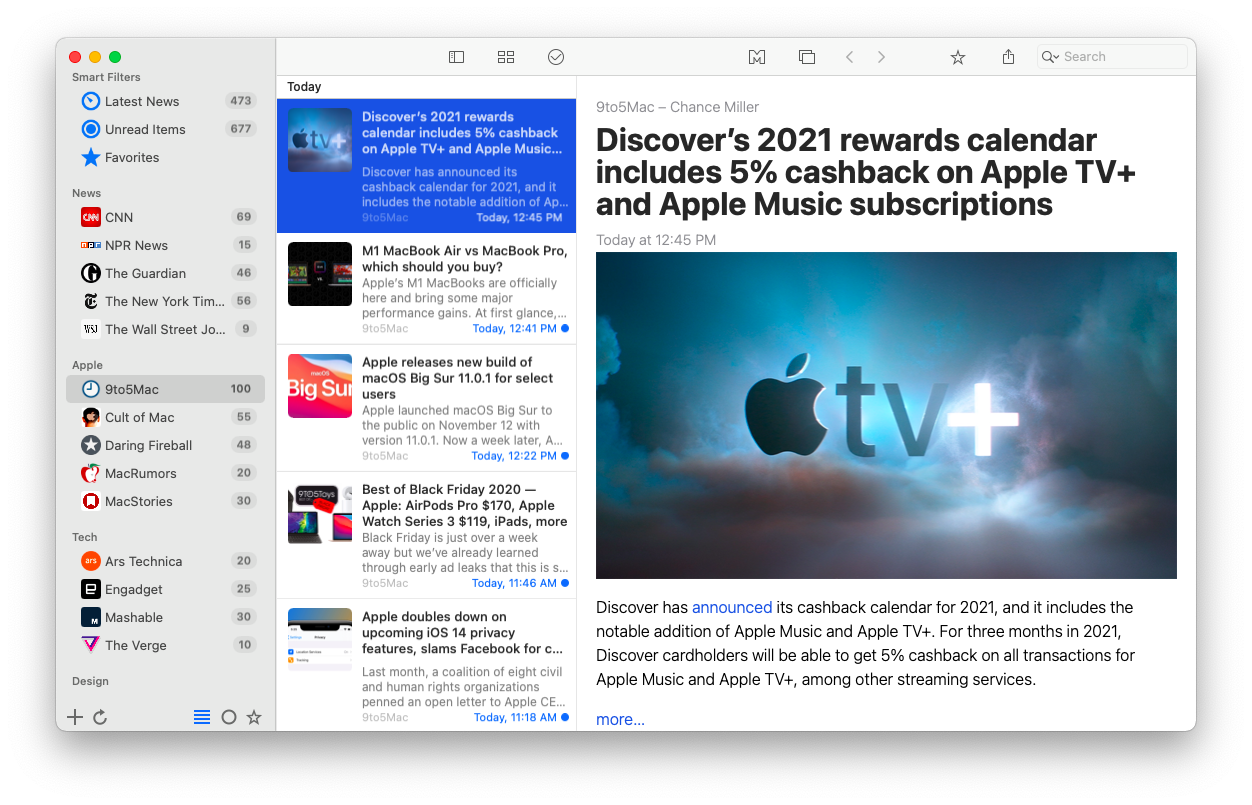 News Explorer, an all-encompassing RSS reader