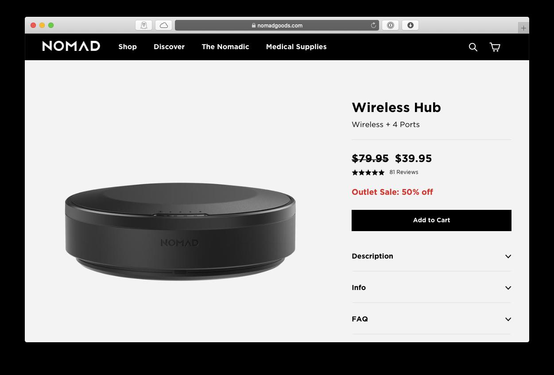 Nomad wireless hub Apple dock