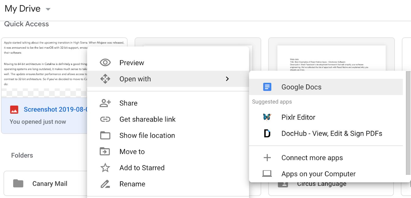 Upload the screenshot to Google Drive