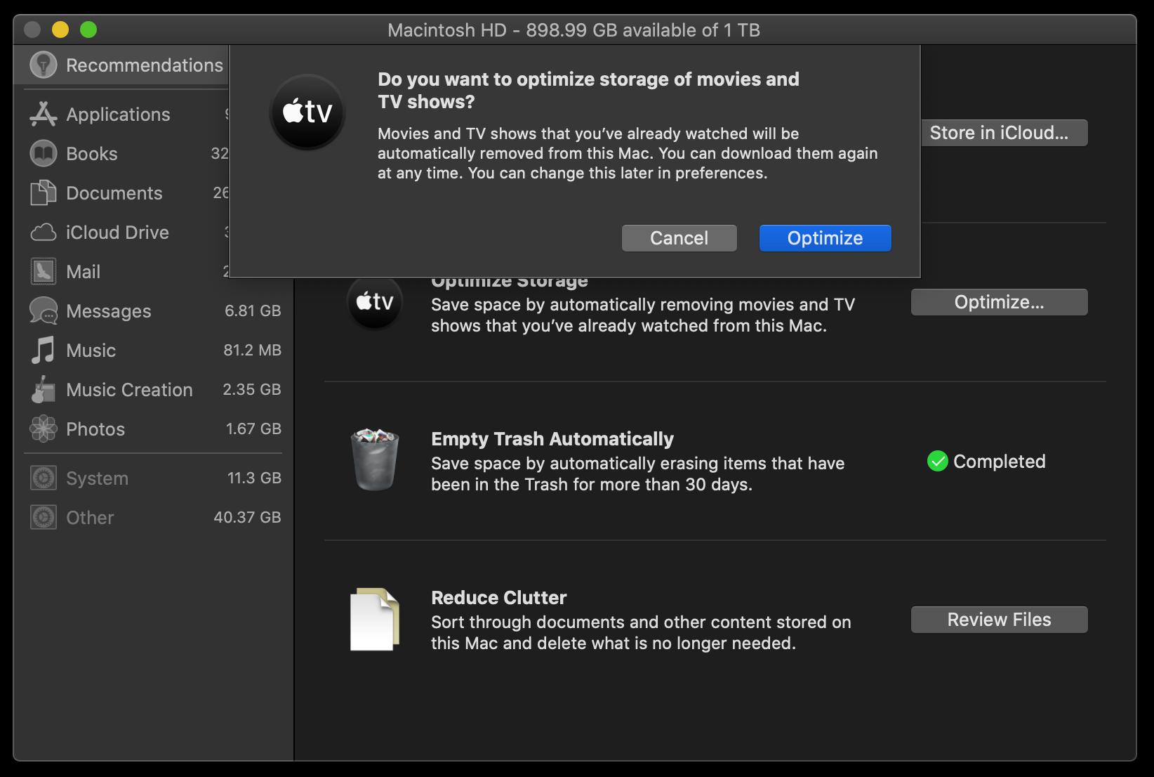 optimize mac storage mac