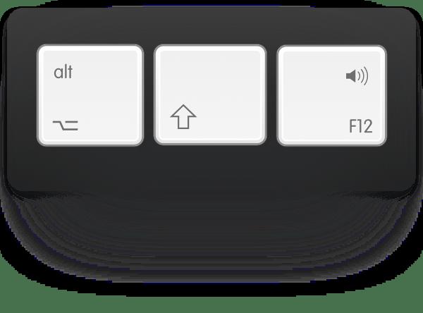 option-shift-volume key