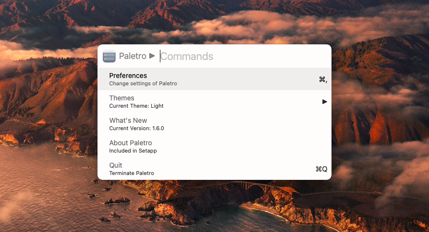 find command through Paletro