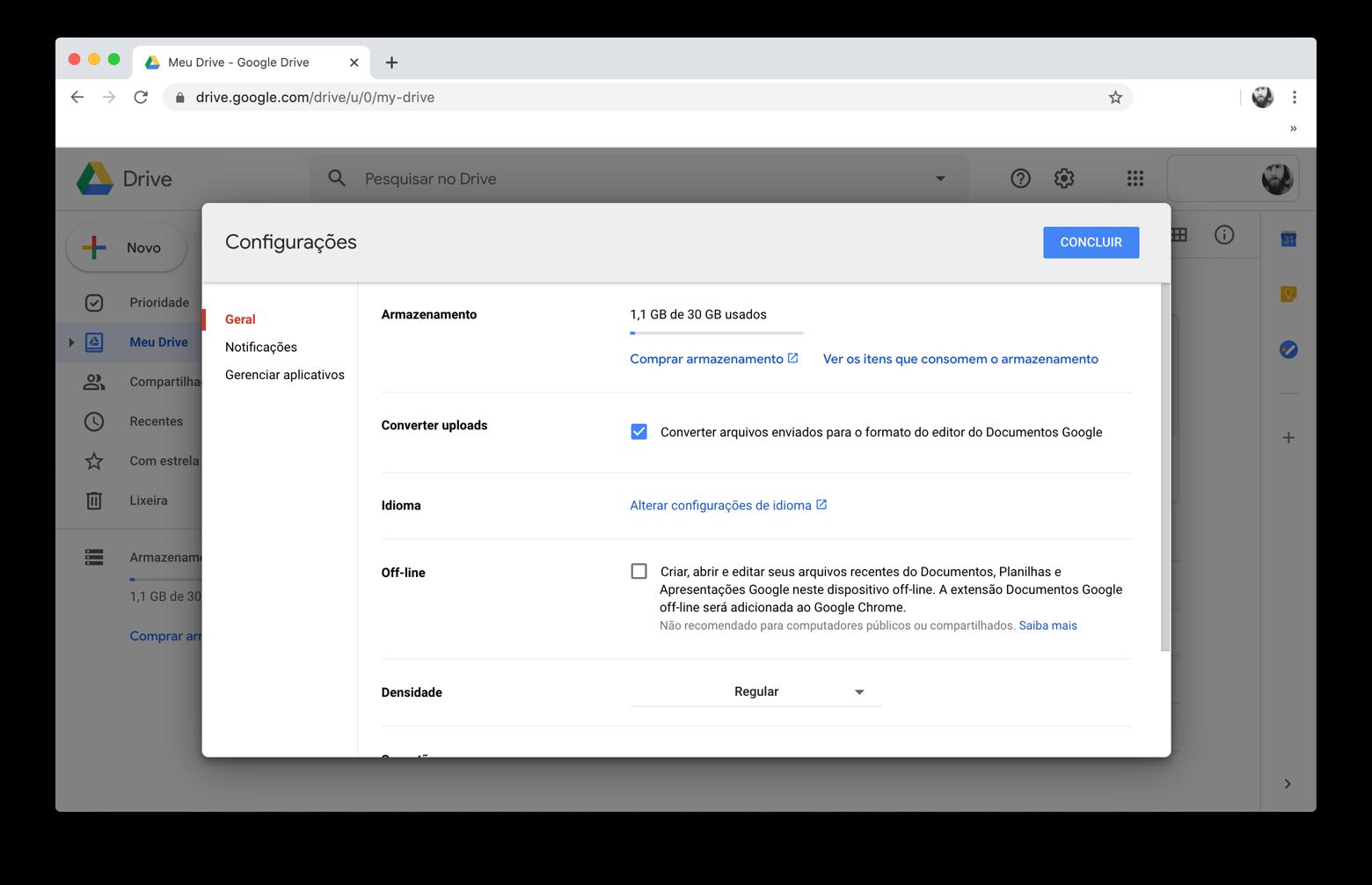 Como converter de PDF para Word com o Documentos Google