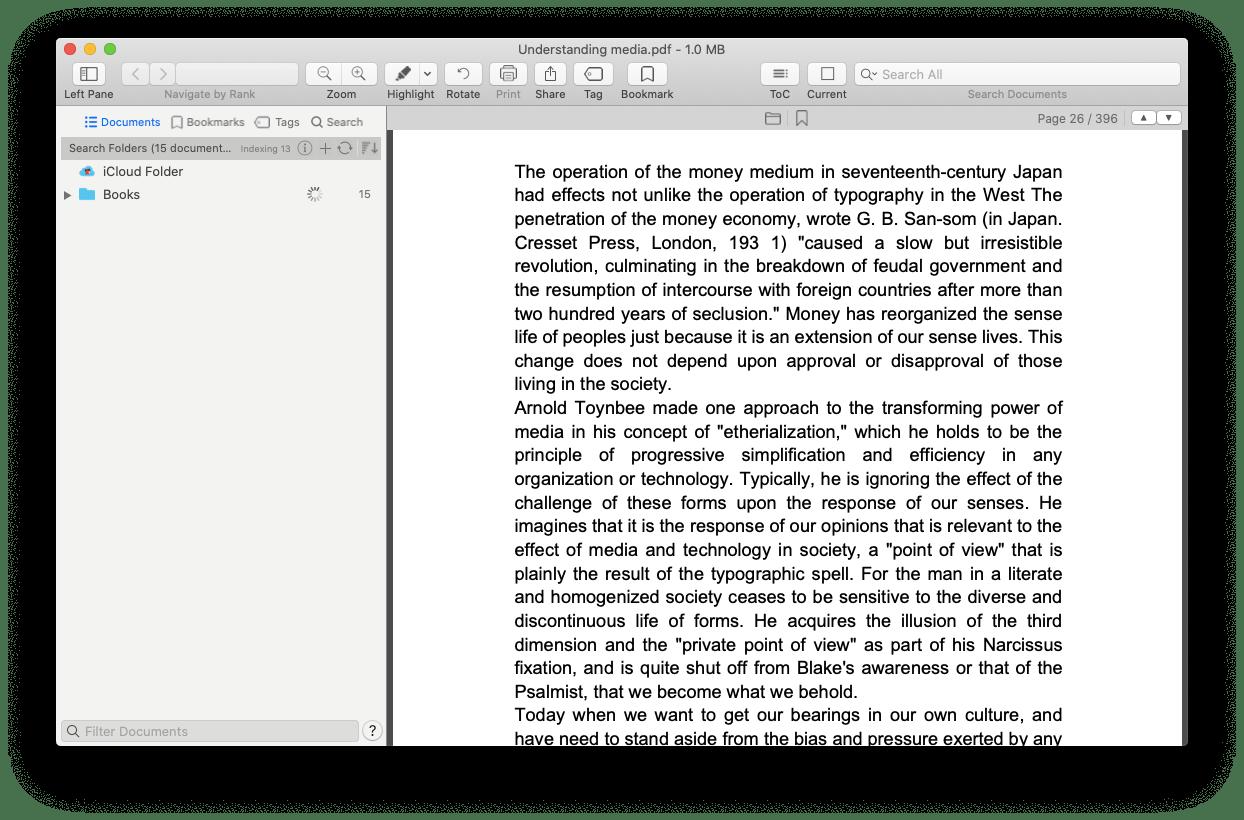 PDF Search- app index Mac