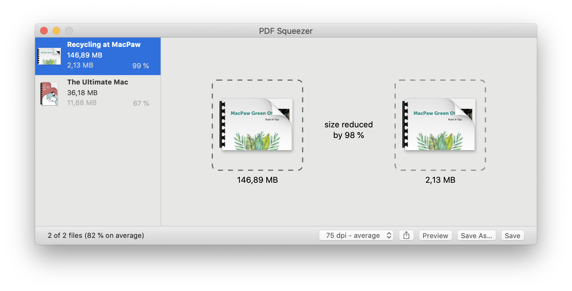The best batch PDF file compression