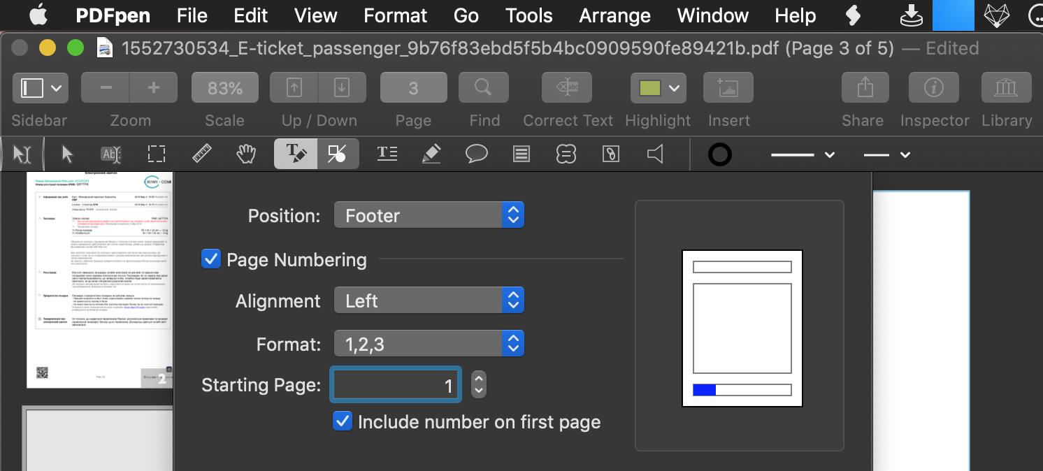 Reordene e renumere páginas no PDF