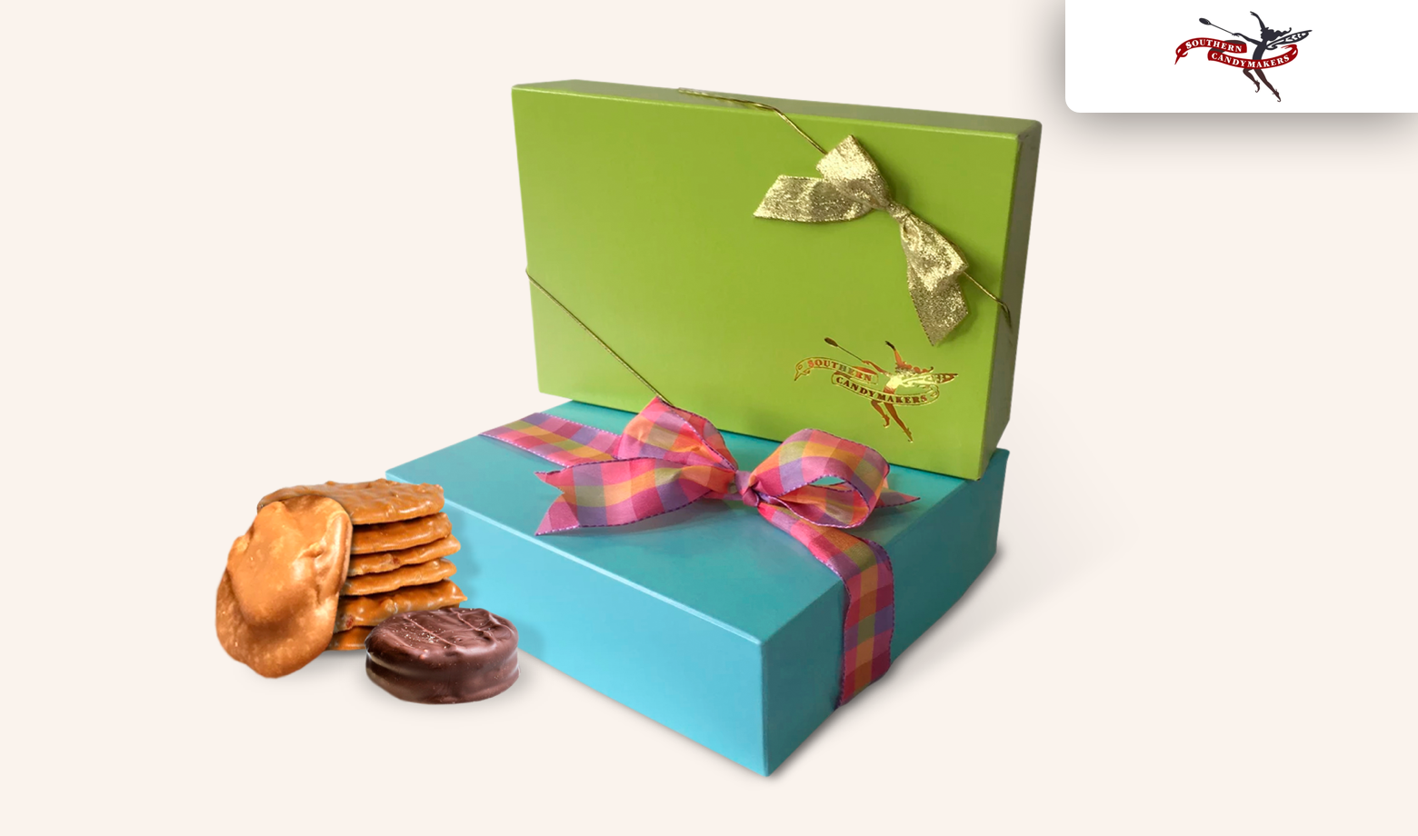 Box with peanut butter filled sweeties