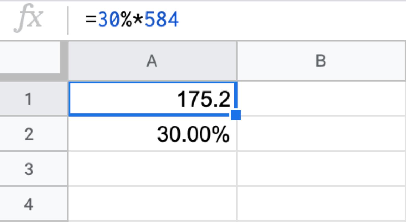 percentage formula Google Sheets