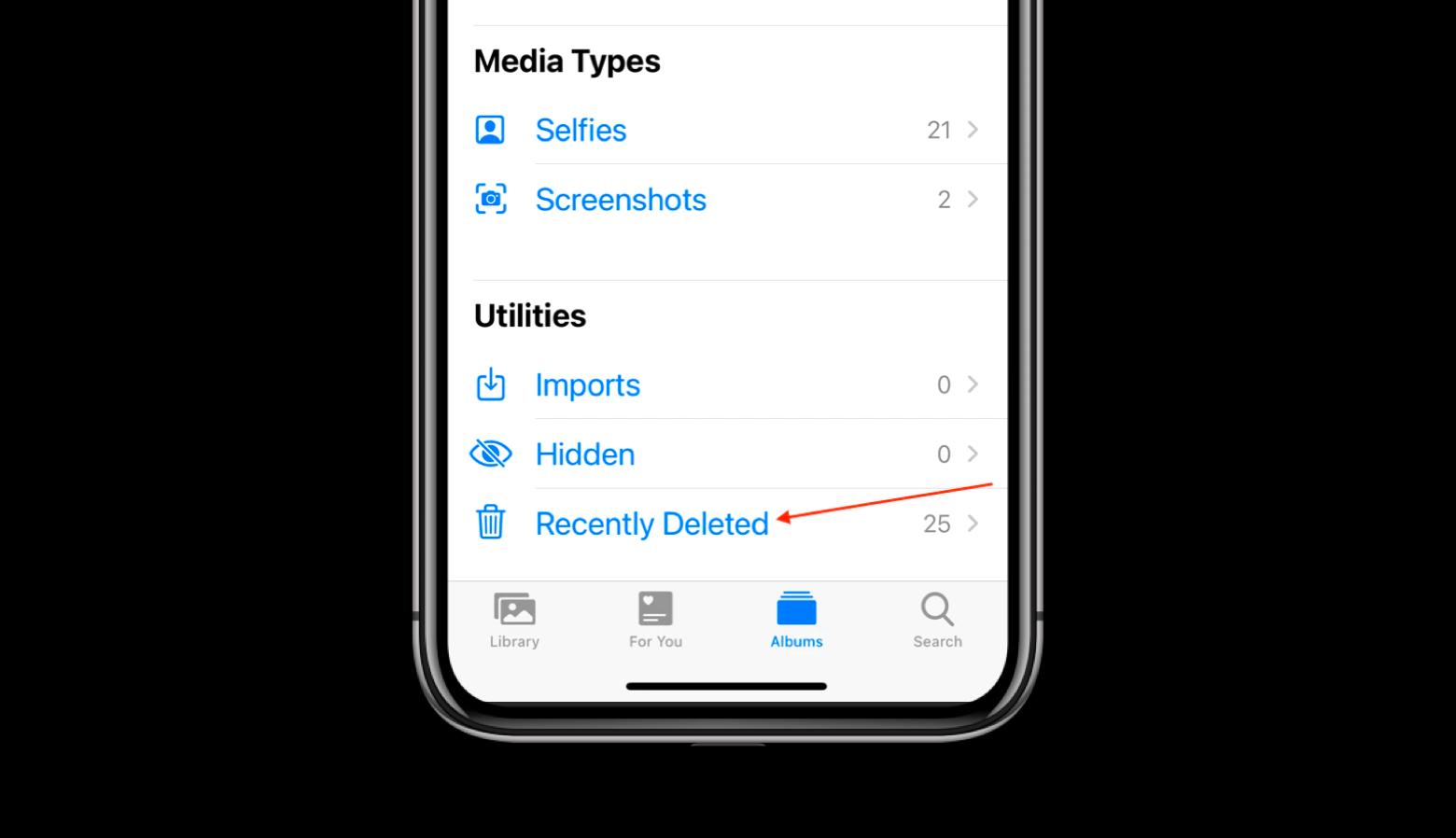 permanently delete photos iphone ipad