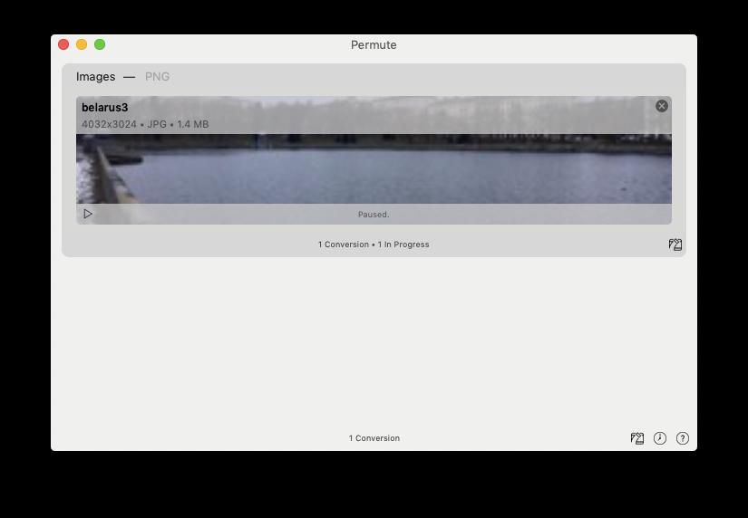 Use an image converter to change screenshot file format