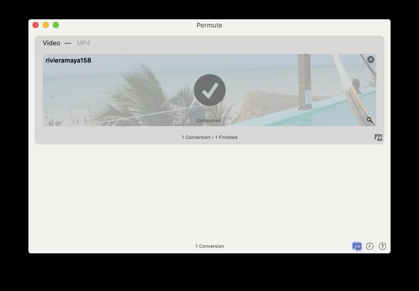 Permute convert video Mac format