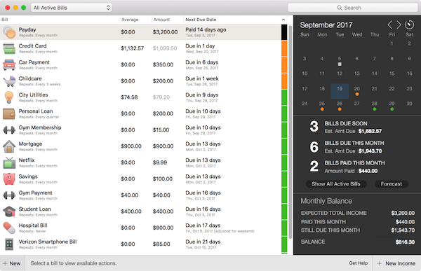 Personal finance tool: Chronicle app