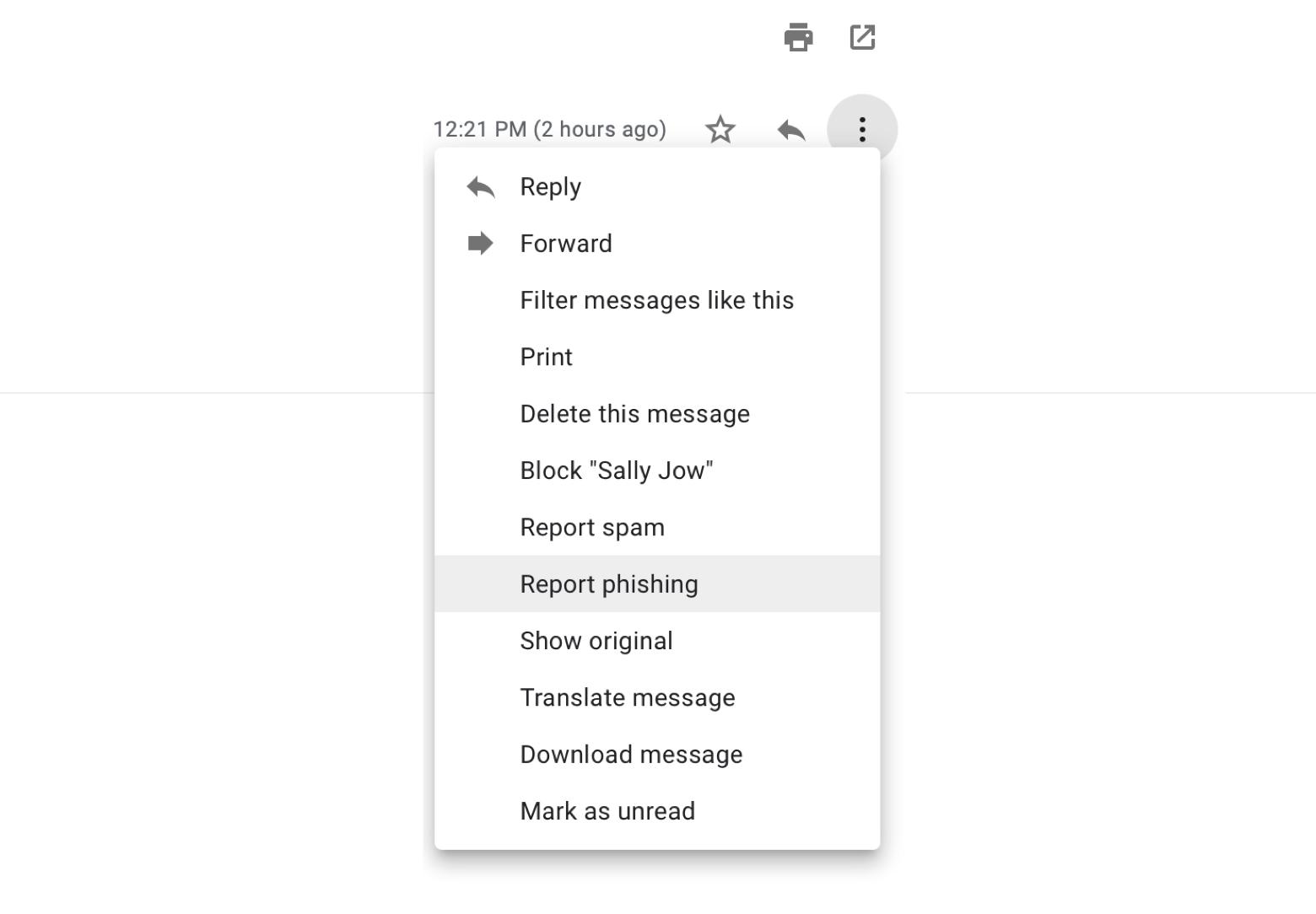 Report phishing