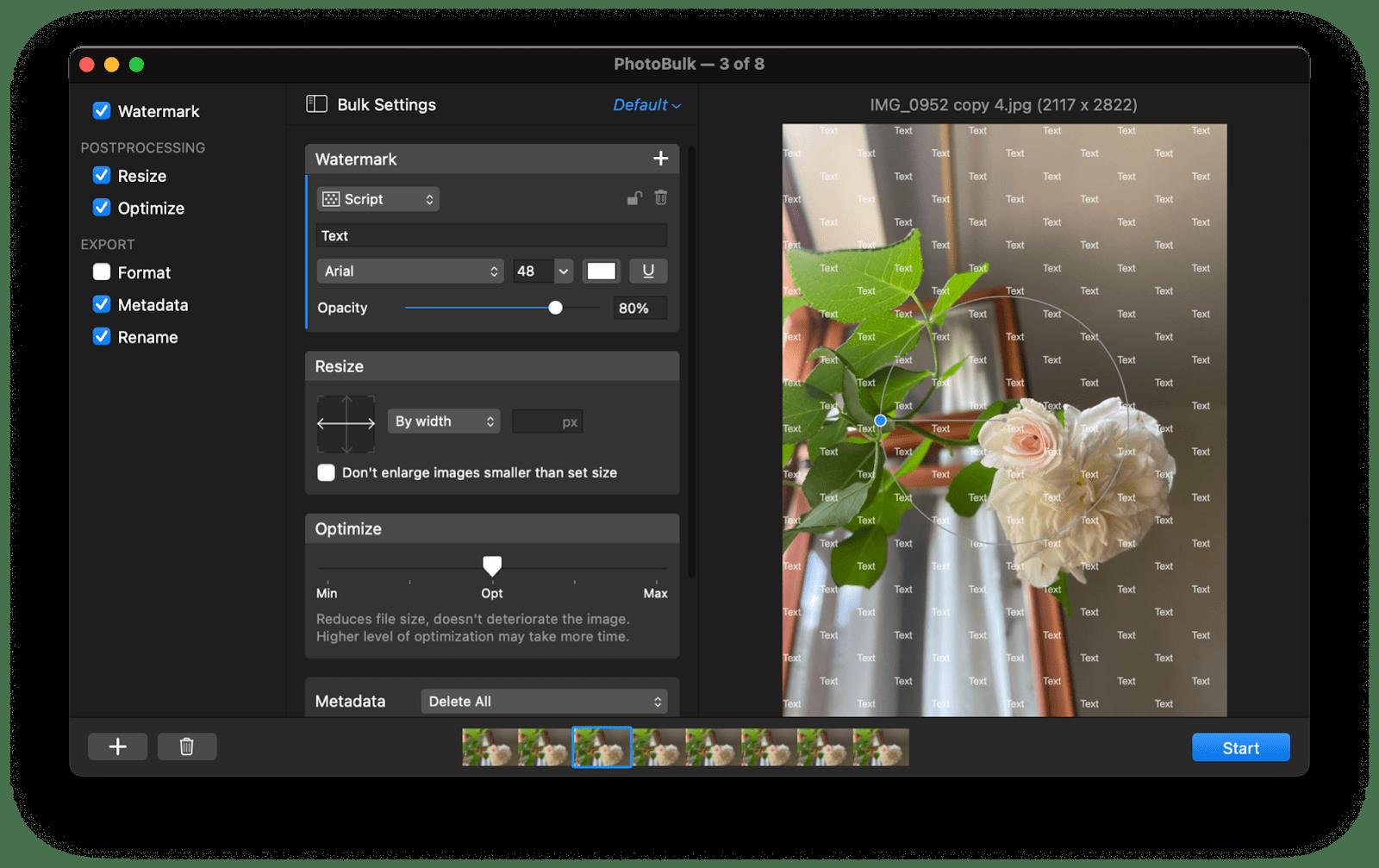 resize image mac photobulk