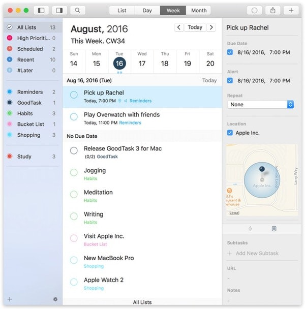 Use a task manager to organize a party