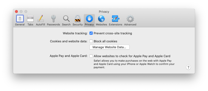 prevent tracking Safari Mac Apple