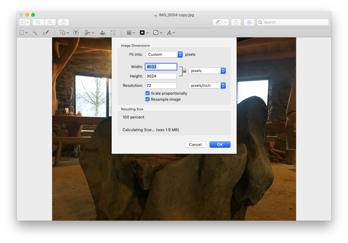 preview image scale resize