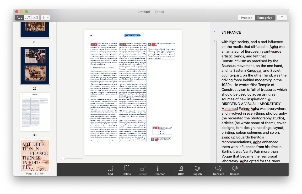 Prizmo recognizing software app PDF OCR Mac