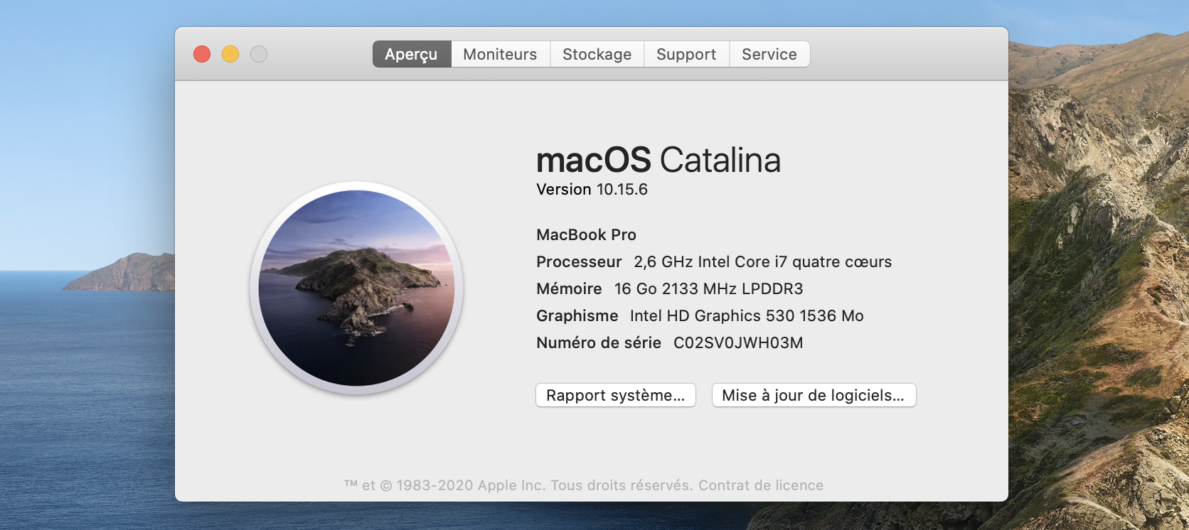Vérifier la version de macOS