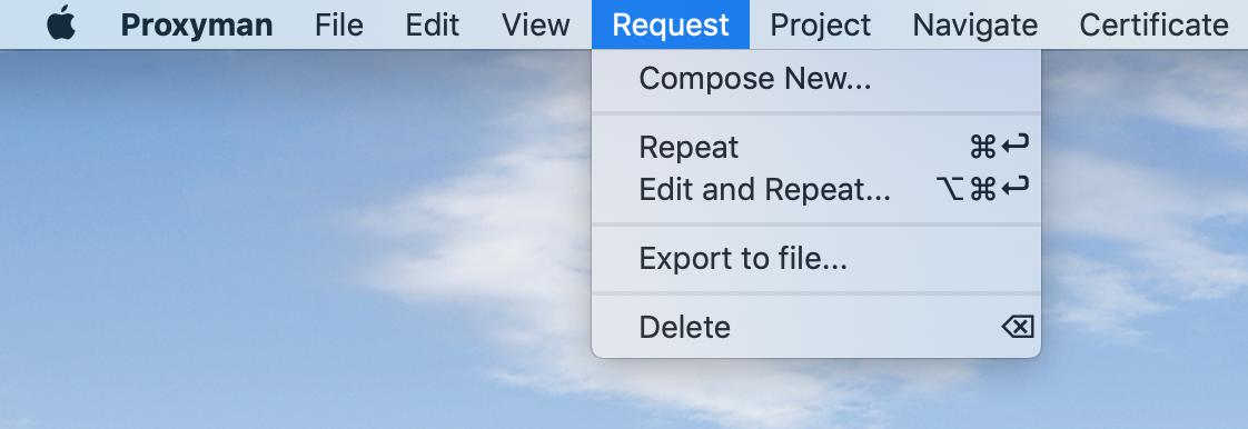 Request settings
