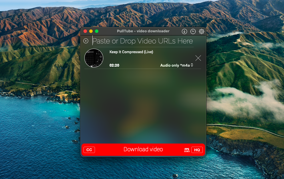 Pulltube captures video and audio on any website,