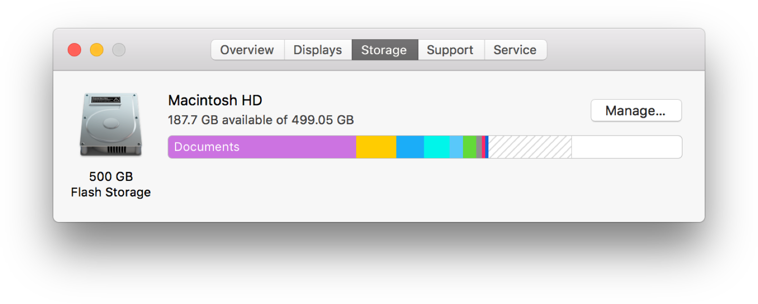 How to preview Purgeable storage in macOS