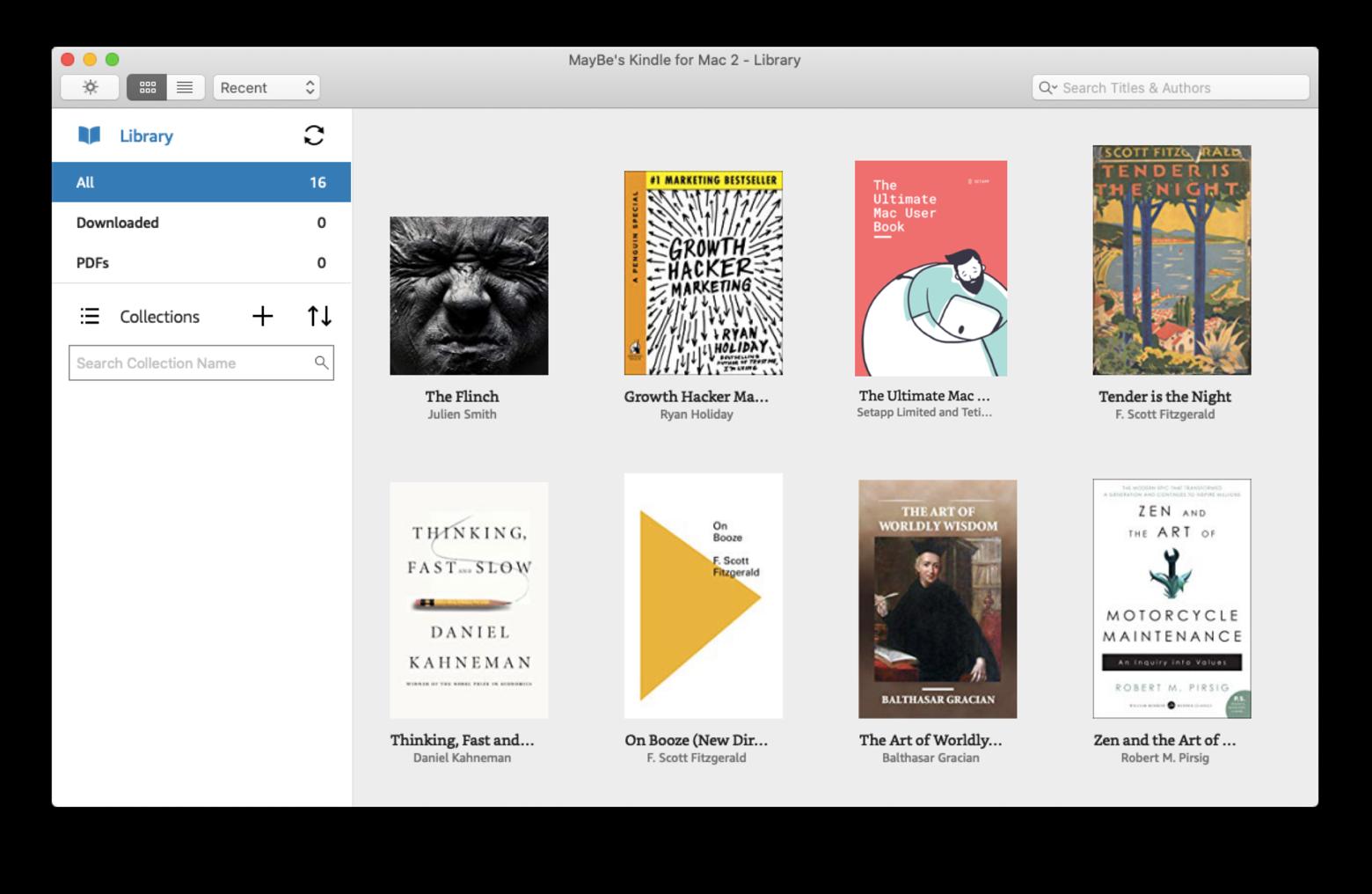 Kindle app Mac read books