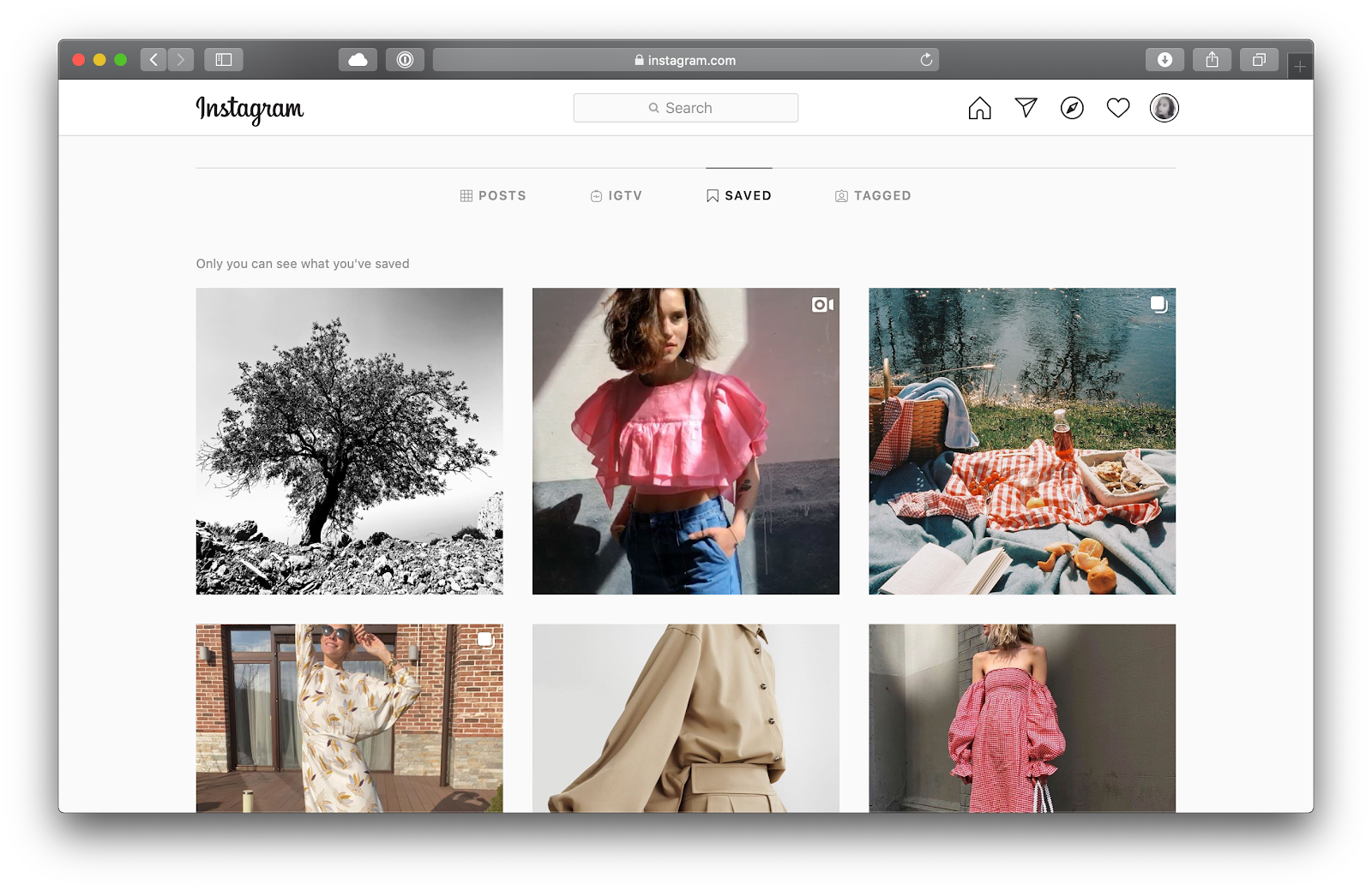 saved Instagram collection Mac