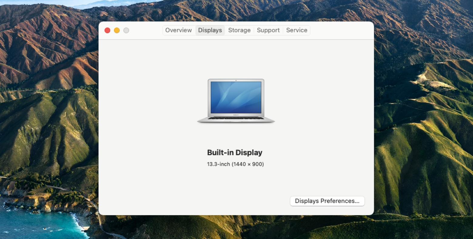 display resolution on Mac