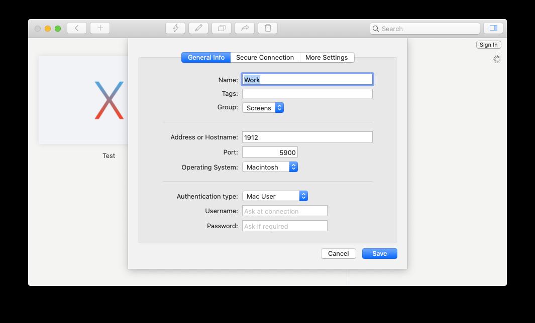 Screens screen sharing app Mac