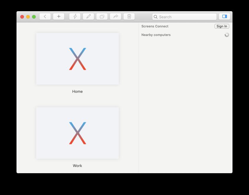 Screens sharing tool remote access Mac