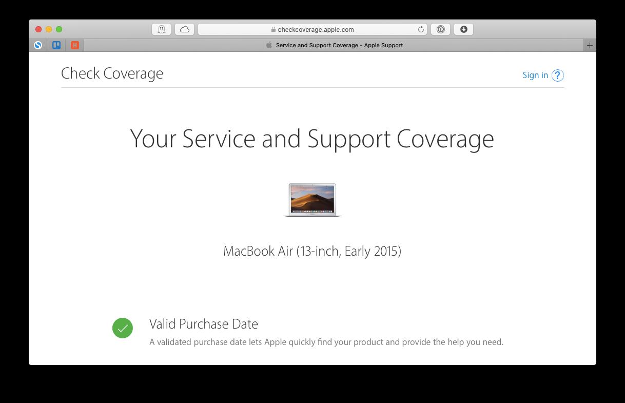 serial number lookup Mac online