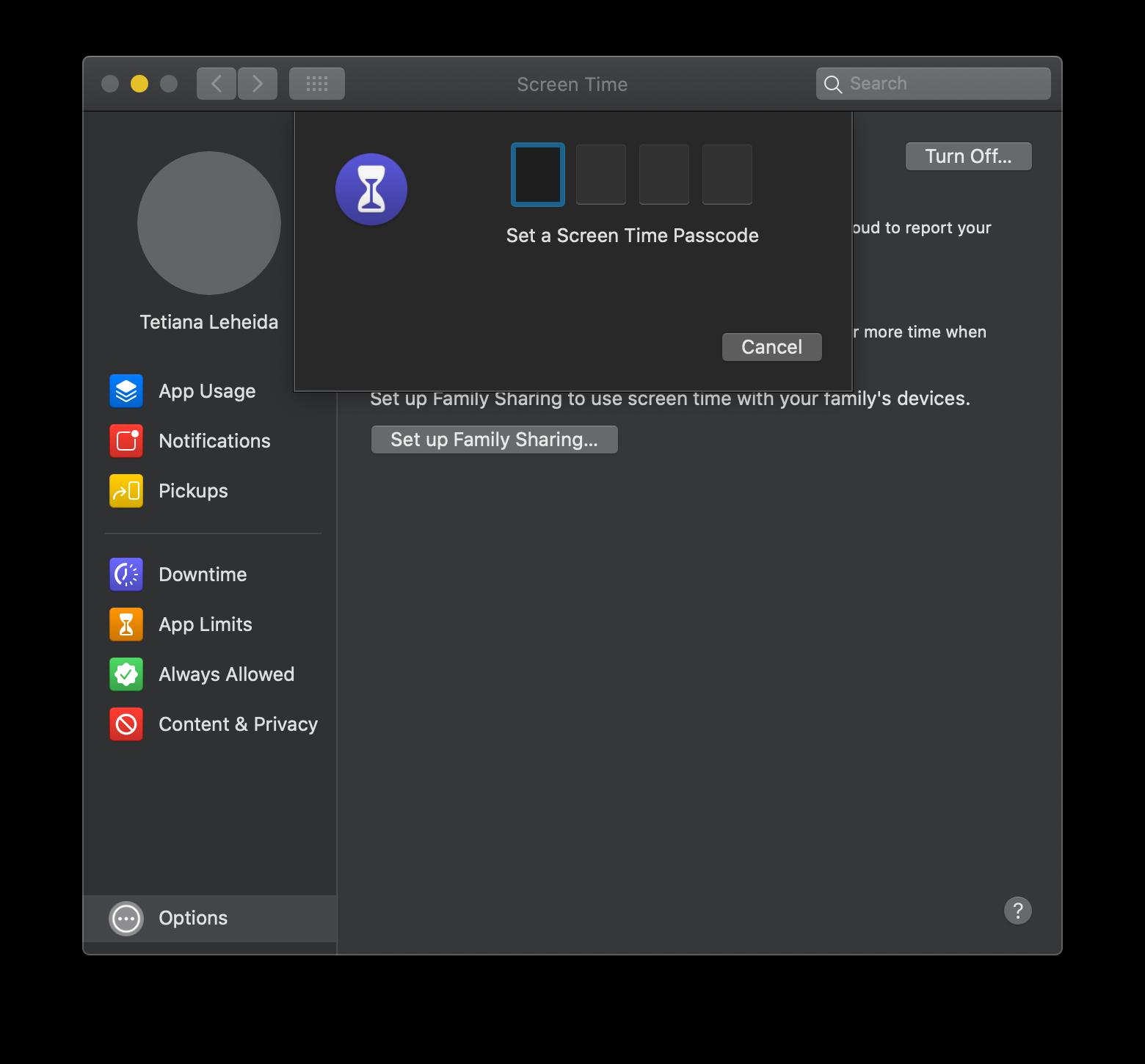 set parental controls on macOS Catalina