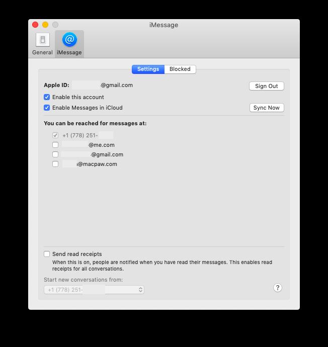 set up iMessage on Mac