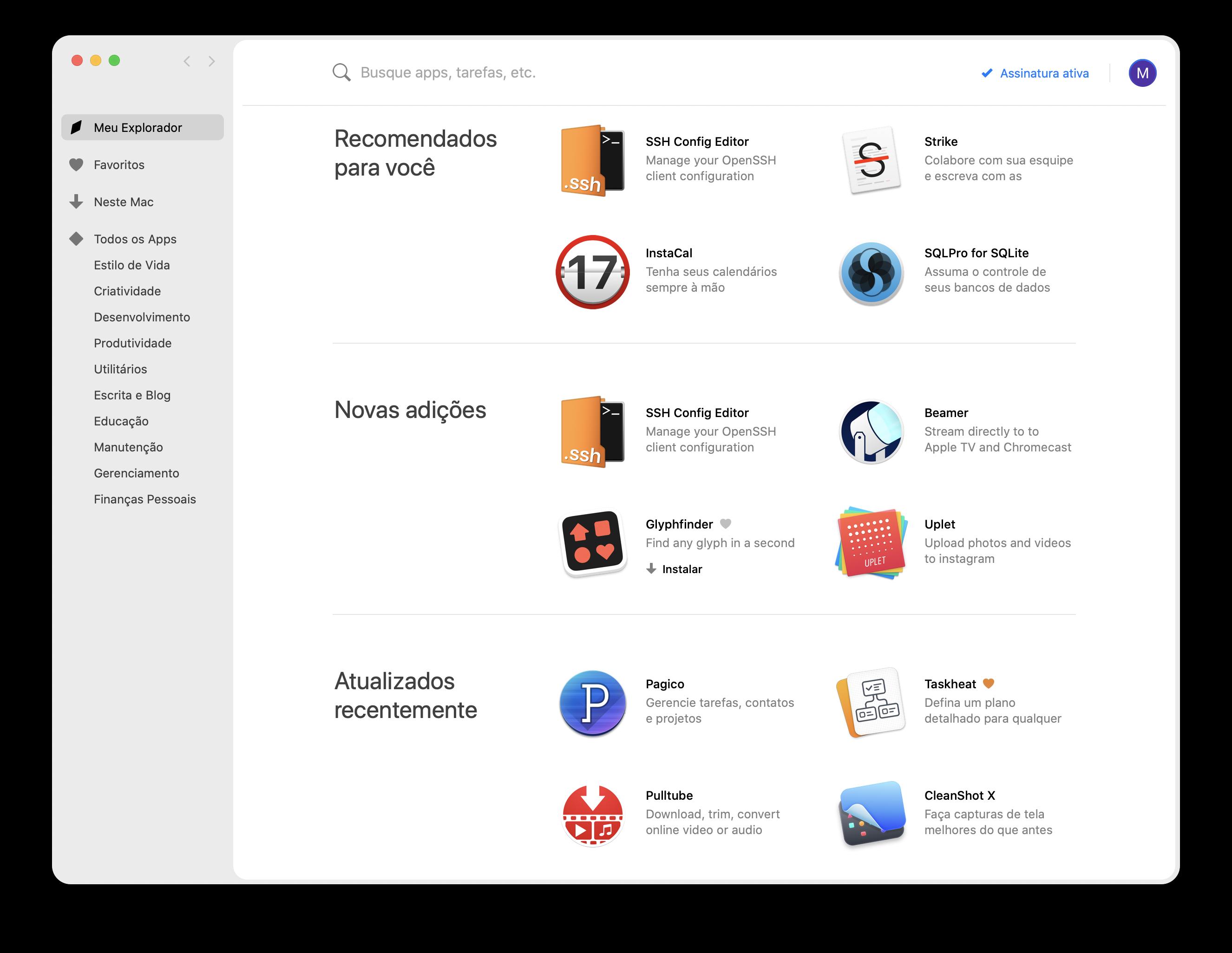 App Setapp para Mac para trabalho remoto
