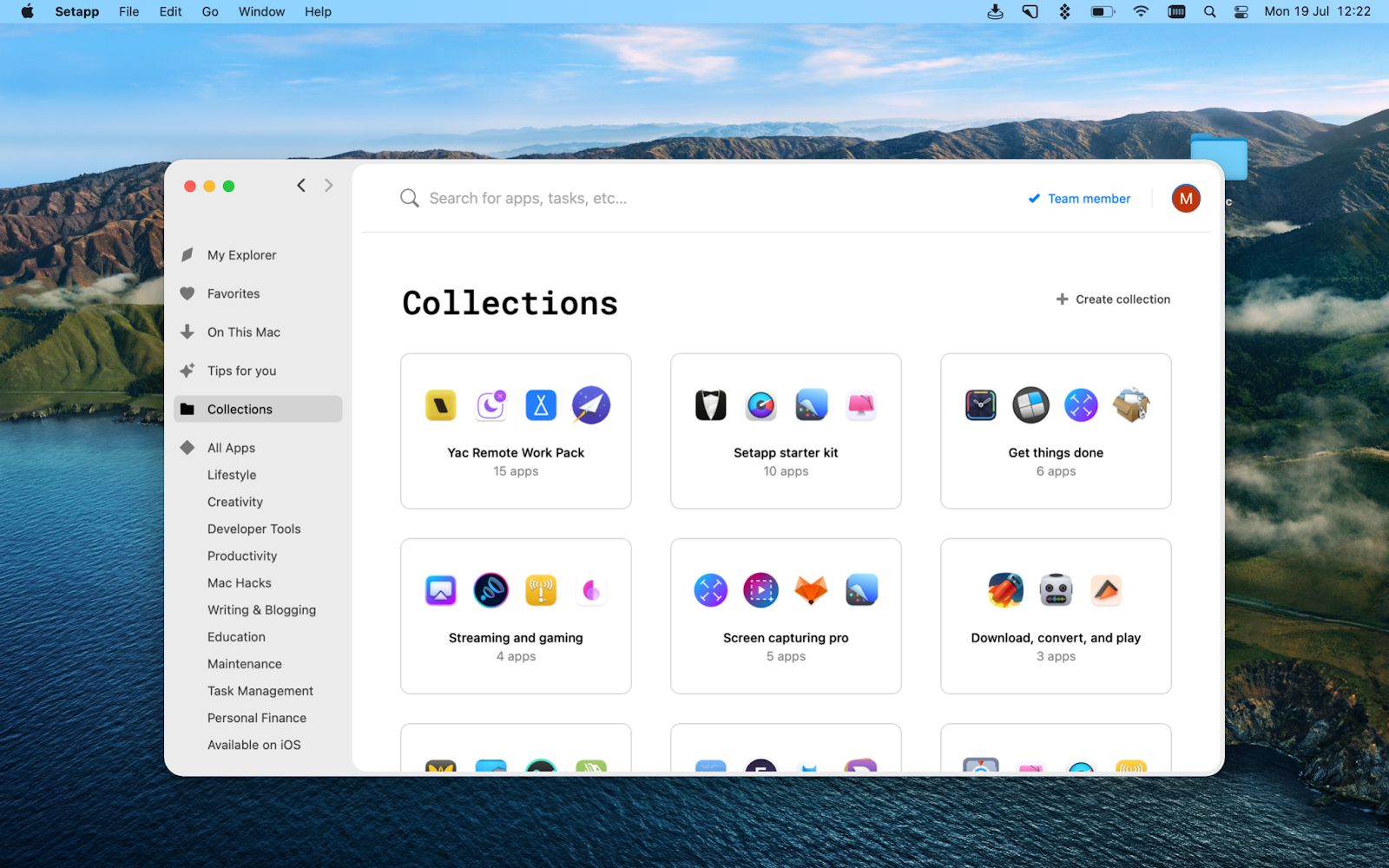 Setapp collections