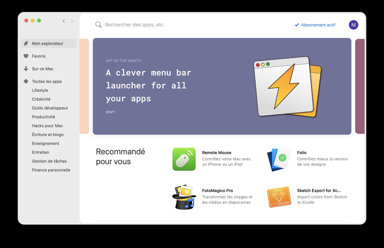 Application Mac Setapp pour le télétravail