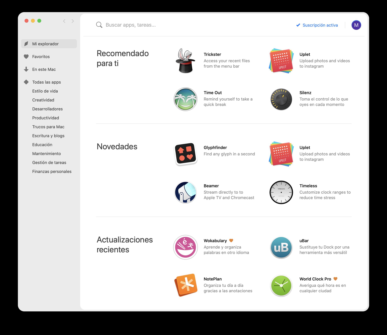 App Setapp Mac para teletrabajo