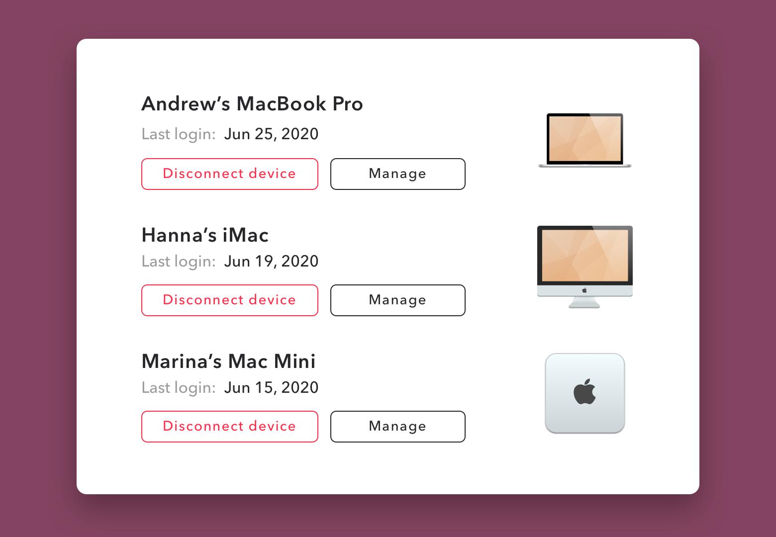 Setapp list of devices