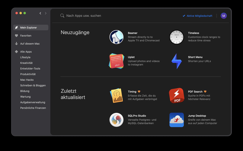 Setapp App für Mac für Remote-Arbeit