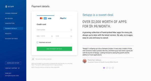 Payment Details Management