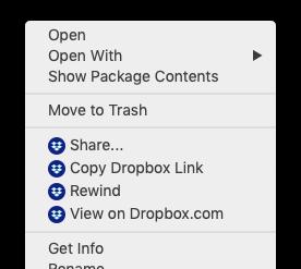share dropbox file mac