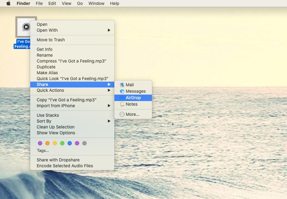 share files airdrop mac phone