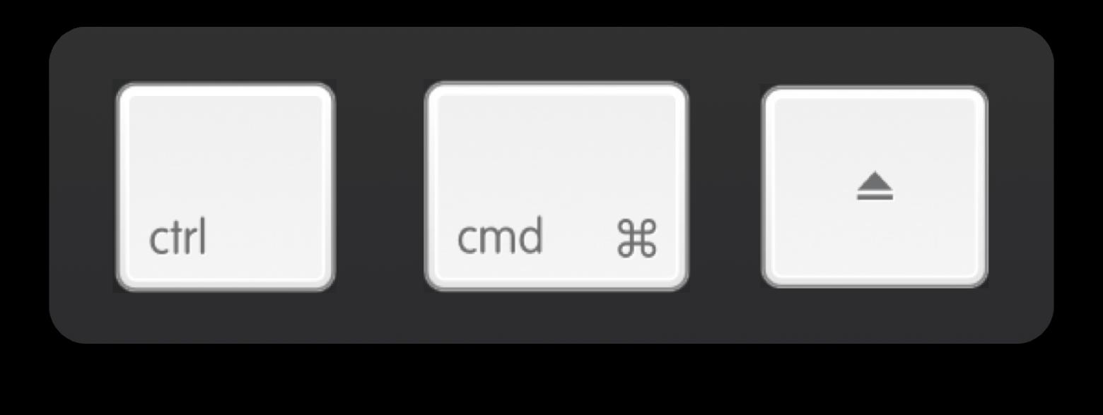 Force Quit keyboard shortcut