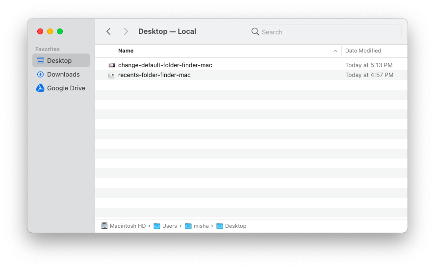 where your current folder is located on your Mac