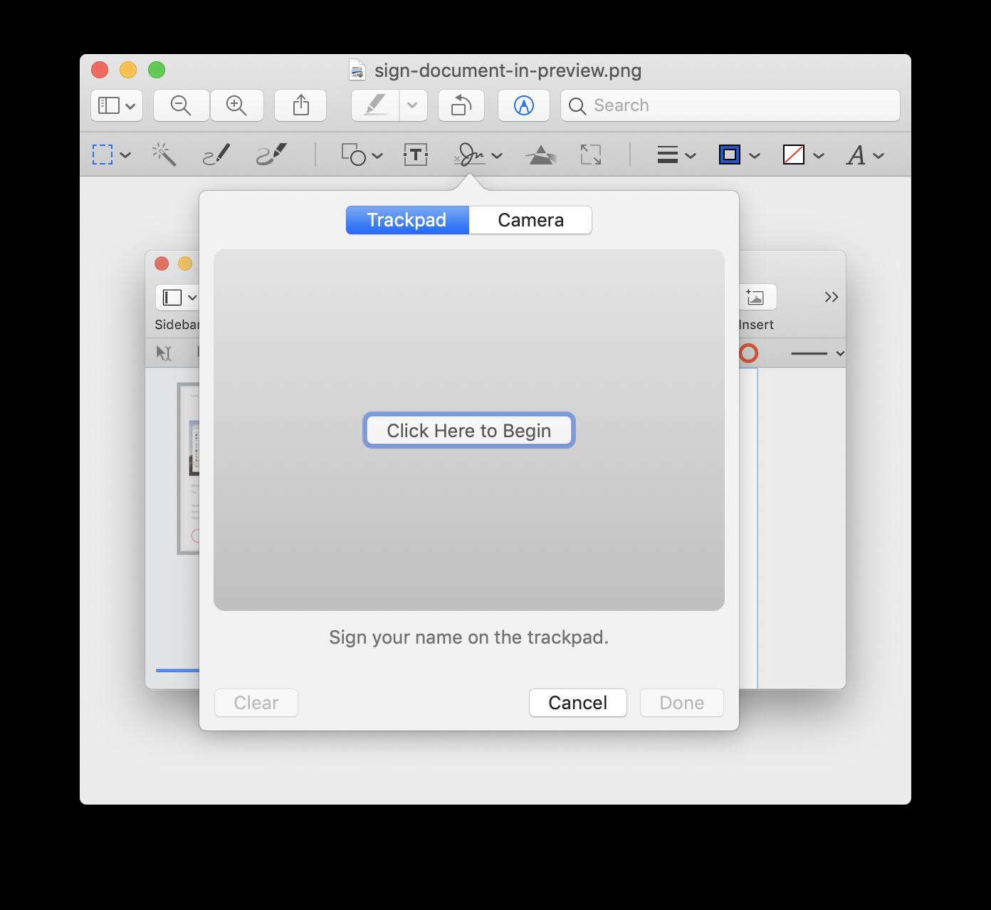 Assine PDFs com o app Pré-Visualização