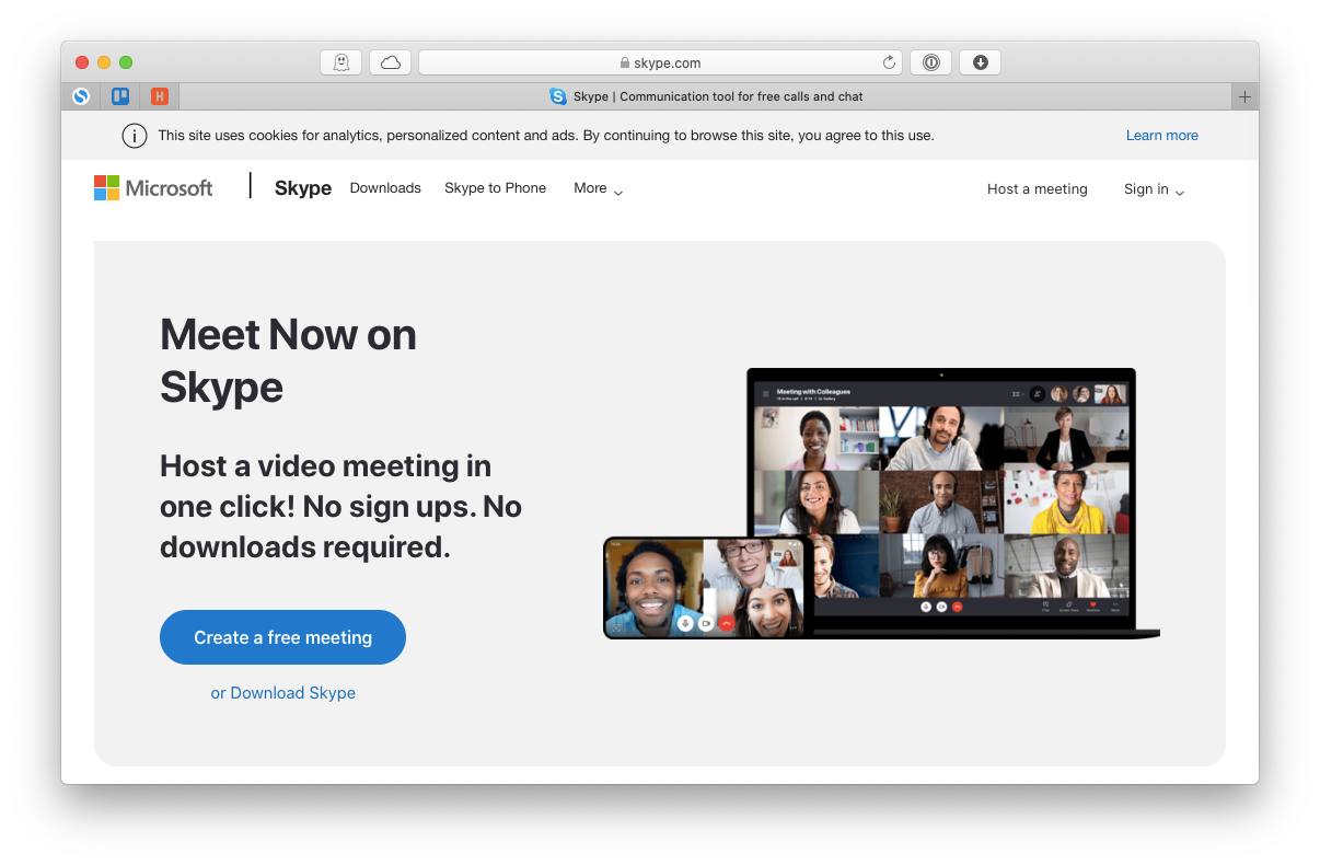 Skype app online call free