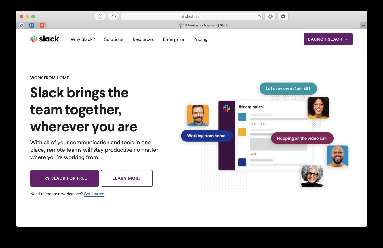 Slack communication team Mac